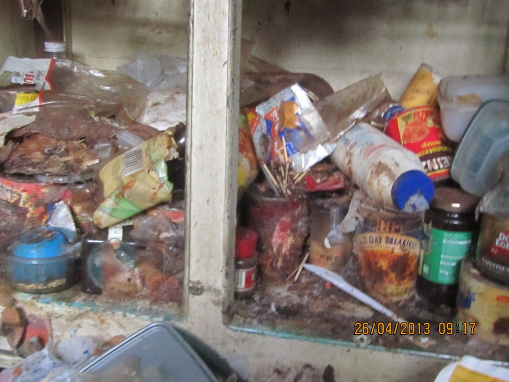 Photo Of Hoarded Kitchen Ealing