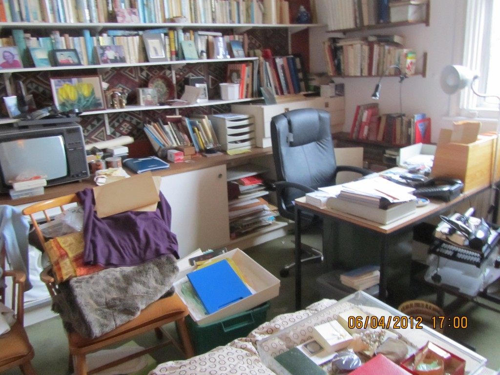 cleaning a hoarded house