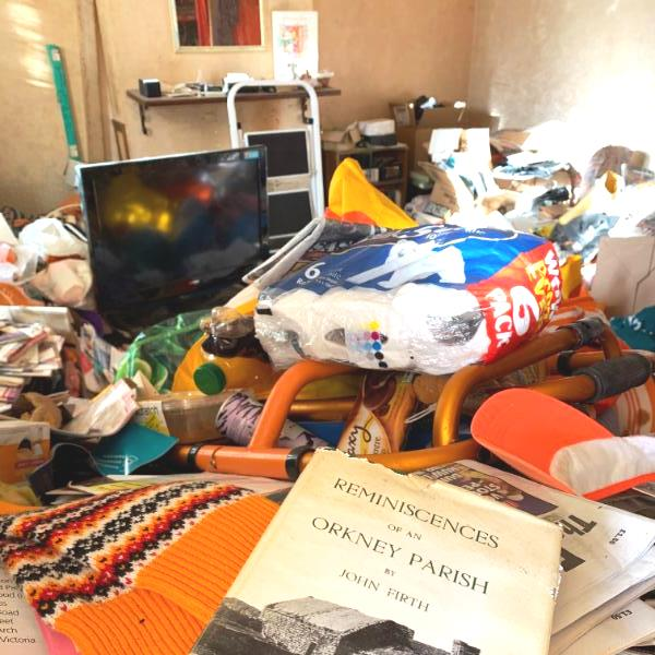 clearing a hoarded house